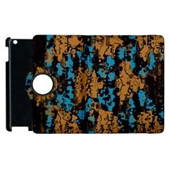 Blue Brown Textureapple Ipad 3/4 Flip 360 Case by LalyLauraFLM