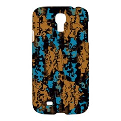 Blue Brown Texture			samsung Galaxy S4 I9500/i9505 Hardshell Case by LalyLauraFLM