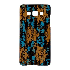 Blue Brown Texturesamsung Galaxy A5 Hardshell Case by LalyLauraFLM