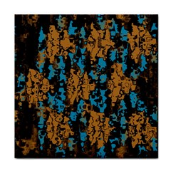 Blue brown texture			Tile Coaster by LalyLauraFLM