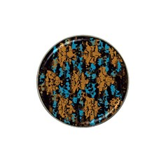Blue Brown Texture			hat Clip Ball Marker by LalyLauraFLM