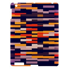 Rectangles In Retro Colors			apple Ipad 3/4 Hardshell Case by LalyLauraFLM