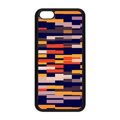 Rectangles In Retro Colors			apple Iphone 5c Seamless Case (black) by LalyLauraFLM