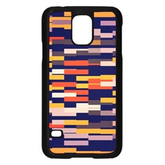 Rectangles In Retro Colorssamsung Galaxy S5 Case (black) by LalyLauraFLM
