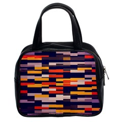 Rectangles In Retro Colors Classic Handbag (two Sides) by LalyLauraFLM