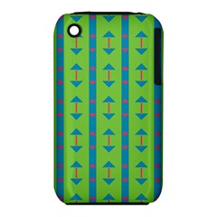 Arrows And Stripes Patternapple Iphone 3g/3gs Hardshell Case (pc+silicone) by LalyLauraFLM