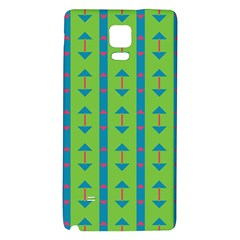 Arrows And Stripes Pattern			samsung Note 4 Hardshell Back Case by LalyLauraFLM