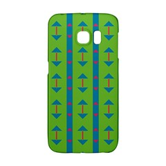 Arrows And Stripes Pattern			samsung Galaxy S6 Edge Hardshell Case by LalyLauraFLM