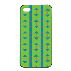 Arrows And Stripes Pattern			apple Iphone 4/4s Seamless Case (black) by LalyLauraFLM