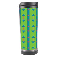 Arrows And Stripes Pattern Travel Tumbler by LalyLauraFLM