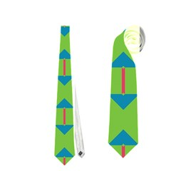 Arrows And Stripes Pattern Necktie