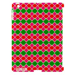 Red Pink Green Rhombus Patternapple Ipad 3/4 Hardshell Case (compatible With Smart Cover) by LalyLauraFLM