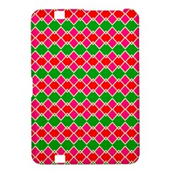 Red Pink Green Rhombus Patternkindle Fire Hd 8 9  Hardshell Case by LalyLauraFLM
