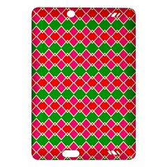 Red Pink Green Rhombus Patternkindle Fire Hd (2013) Hardshell Case by LalyLauraFLM