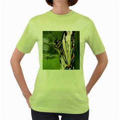 Butterfly 1 Women s Green T Shirt