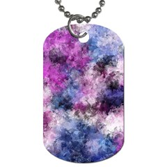 Shabby Floral 2 Dog Tag (two Sides) by MoreColorsinLife