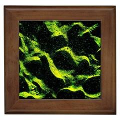Green Northern Lights Framed Tiles by Costasonlineshop