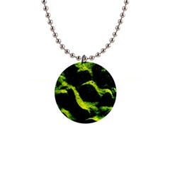 Green Northern Lights Button Necklaces
