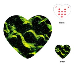 Green Northern Lights Playing Cards (heart)