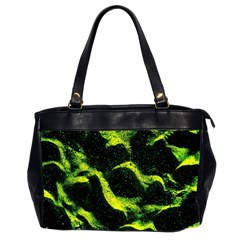 Green Northern Lights Office Handbags (2 Sides)