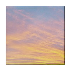 Yellow Blue Pastel Sky Tile Coasters