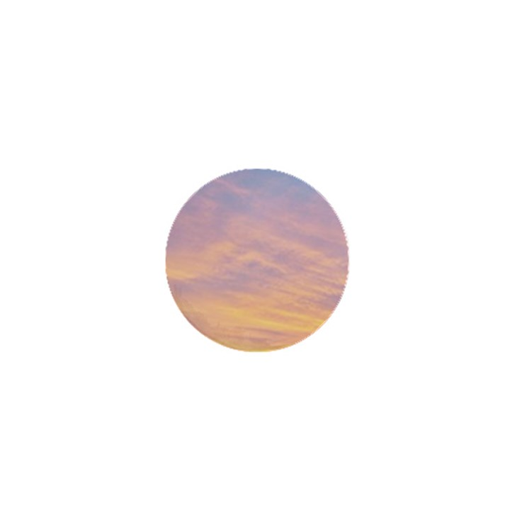 Yellow Blue Pastel Sky 1  Mini Buttons