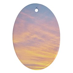 Yellow Blue Pastel Sky Ornament (oval)  by Costasonlineshop
