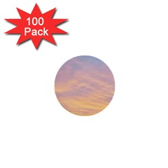 Yellow Blue Pastel Sky 1  Mini Buttons (100 Pack)  by Costasonlineshop