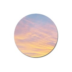 Yellow Blue Pastel Sky Magnet 3  (round)
