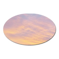 Yellow Blue Pastel Sky Oval Magnet by Costasonlineshop