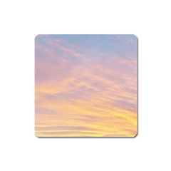 Yellow Blue Pastel Sky Square Magnet by Costasonlineshop