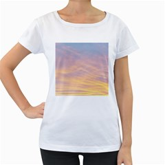 Yellow Blue Pastel Sky Women s Loose Fit T Shirt (white) by Costasonlineshop