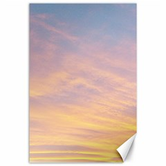 Yellow Blue Pastel Sky Canvas 24  X 36  by Costasonlineshop