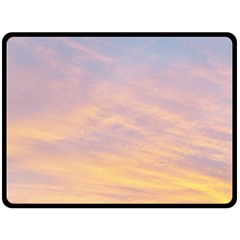 Yellow Blue Pastel Sky Fleece Blanket (large)  by Costasonlineshop