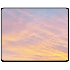 Yellow Blue Pastel Sky Fleece Blanket (medium)  by Costasonlineshop