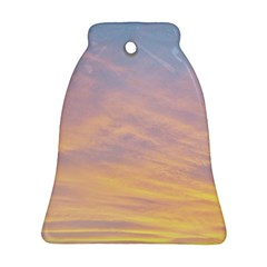 Yellow Blue Pastel Sky Ornament (bell)  by Costasonlineshop