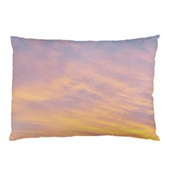 Yellow Blue Pastel Sky Pillow Cases (two Sides) by Costasonlineshop