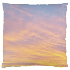 Yellow Blue Pastel Sky Large Cushion Cases (two Sides)  by Costasonlineshop