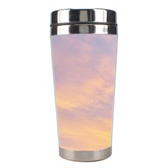 Yellow Blue Pastel Sky Stainless Steel Travel Tumblers by Costasonlineshop