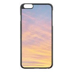 Yellow Blue Pastel Sky Apple Iphone 6 Plus/6s Plus Black Enamel Case by Costasonlineshop