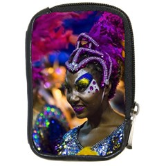 Costumed Attractive Dancer Woman At Carnival Parade Of Uruguay Compact Camera Cases by dflcprints