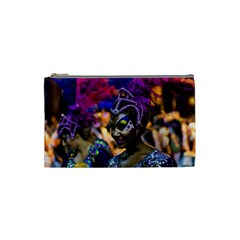 Costumed Attractive Dancer Woman At Carnival Parade Of Uruguay Cosmetic Bag (small)  by dflcprints