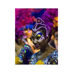Costumed Attractive Dancer Woman At Carnival Parade Of Uruguay Shower Curtain 48  X 72  (small)  by dflcprints