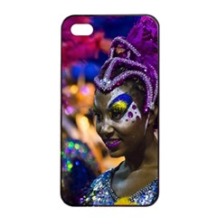 Costumed Attractive Dancer Woman At Carnival Parade Of Uruguay Apple Iphone 4/4s Seamless Case (black) by dflcprints