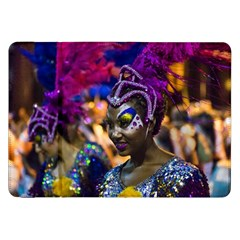 Costumed Attractive Dancer Woman at Carnival Parade of Uruguay Samsung Galaxy Tab 8.9  P7300 Flip Case by dflcprints
