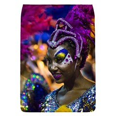 Costumed Attractive Dancer Woman At Carnival Parade Of Uruguay Flap Covers (s)  by dflcprints