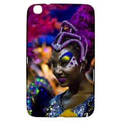 Costumed Attractive Dancer Woman at Carnival Parade of Uruguay Samsung Galaxy Tab 3 (8 ) T3100 Hardshell Case  by dflcprints