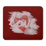 Cute Watercolor Art Valentine Love - Large Mousepad
