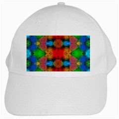 Colorful Goa   Painting White Cap by Costasonlineshop