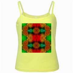 Colorful Goa   Painting Yellow Spaghetti Tanks
